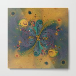Cosmic Nucleus - Abstract Art by Fluid Nature Metal Print