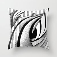gravity Throw Pillows featuring GRAVITY by Fen_A