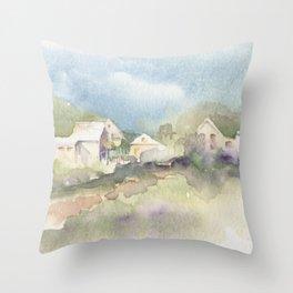 Ghost Town Memories Throw Pillow