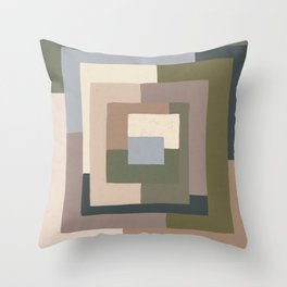 Abstract Neutrals Throw Pillow