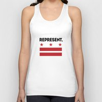 dc Tank Tops featuring Represent DC by SquibInk