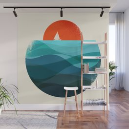 Deep blue ocean Wall Mural