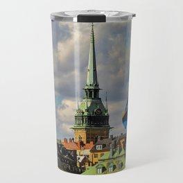 Stockholm and the Swedish Flag Travel Mug