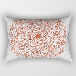 Rust Red Mandala on Japanese Rice Paper Rectangular Pillow