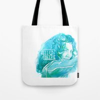 river song Tote Bags featuring River Song by Erin Garey