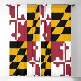 Maryland state flag Blackout Curtain