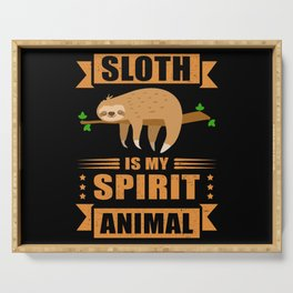 Sloth Is My Spirit Animal Tired Sloth Serving Tray