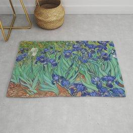 Vincent Van Gogh's Irises 1889 Rug