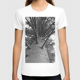 tree black and white photo T-shirt