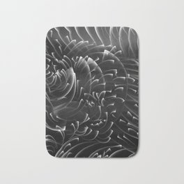 Sea Swirls, Black and White Bath Mat