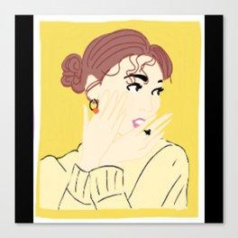 Knock Knock! Nayeon Yellow Canvas Print
