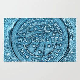 Blue Water Meter New Orleans Sewer Ford Louisiana Rug