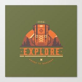 Explore - Backpack Canvas Print