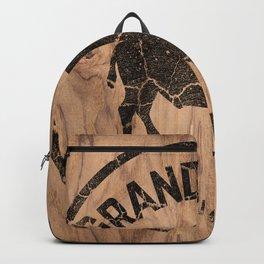 Grand Teton National Park Wyoming Wood Vintage Sign Backpack