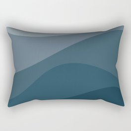 Abstract Color Waves - Blue Palette Rectangular Pillow
