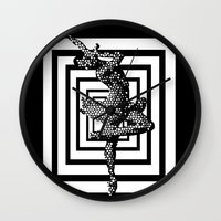 ballerina Wall Clocks featuring  Ballerina   by Saundra Myles