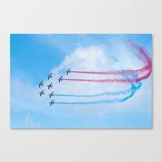 PAF - Patrouille de France - Hyeres637-2010 aircraft aviation  637 Canvas Print