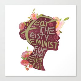 Feisty Feminist Canvas Print