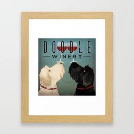 Doodle Goldendoodle Labradoodle Schoodle Whoodle Winery Framed Art Print