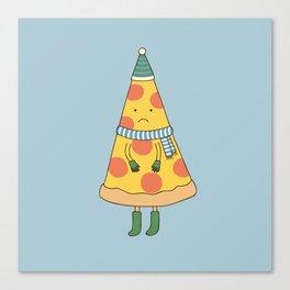 cold pizza Canvas Print