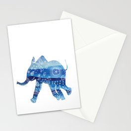 cute baby elephant mandala art Stationery Cards