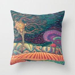 01 - Brain Forest Throw Pillow