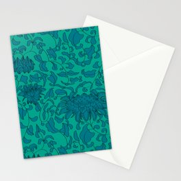 Chinoiserie Vines in Jade + Emerald Stationery Cards