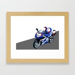 Suzuki motorcycle Framed Art Print