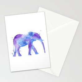 Watercolor Elephant Stationery Cards