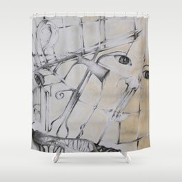 An Abstract Perspective  Shower Curtain