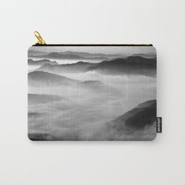 Fog and hills photographic black and white print Carry-All Pouch