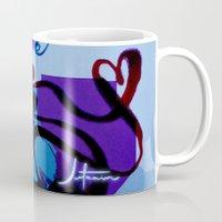 ultraviolence Mugs featuring C Y B E R_A N T O I N E T T E by Jetzain
