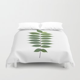 Green Leaf Botanical Print Duvet Cover