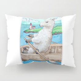 Sheepinarowboat Pillow Sham