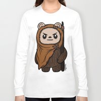 ewok Long Sleeve T-shirts featuring Cartoon Ewok by Team Rapscallion