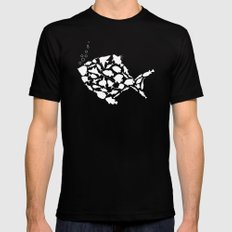 Fish are friends..... MEDIUM Black Mens Fitted Tee