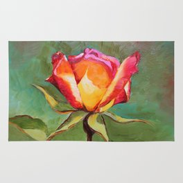 """""""Lonely Rose #1"""" Rug"""