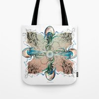 clockwork Tote Bags featuring clockwork by Dominic Damien