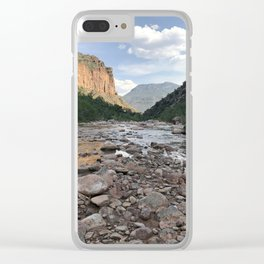 River of Rocks Clear iPhone Case
