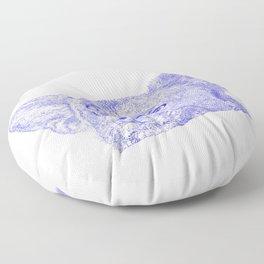 Mitzi takes it easy, blue Floor Pillow