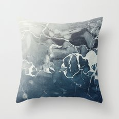 Ultramarine Marble Throw Pillow