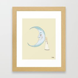 Kiss the Moon Framed Art Print