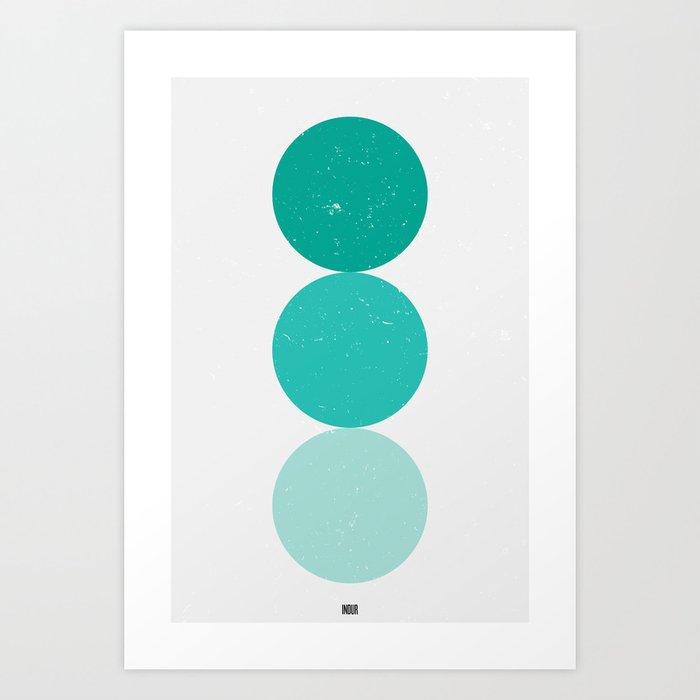 turquoise i 001 Art Print