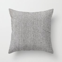 Fresh Brushed Concrete Throw Pillow