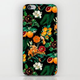 Fruit and Floral Pattern iPhone Skin