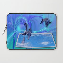 Leaping Dolphins Laptop Sleeve