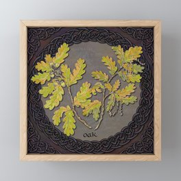 Celtic Oak Framed Mini Art Print