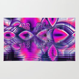 Rose Crystal Palace, Abstract Violet Love Dream Rug