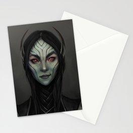 Dark Elf Girl Portrait Stationery Cards