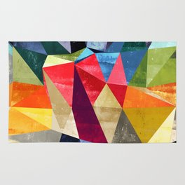 colorful pattern abstract shapes Rug